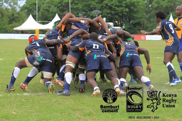 The Kifaru scrum in action against the Papa