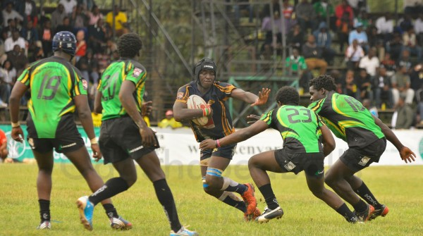 Man of the Match, Rocky Aguko in action