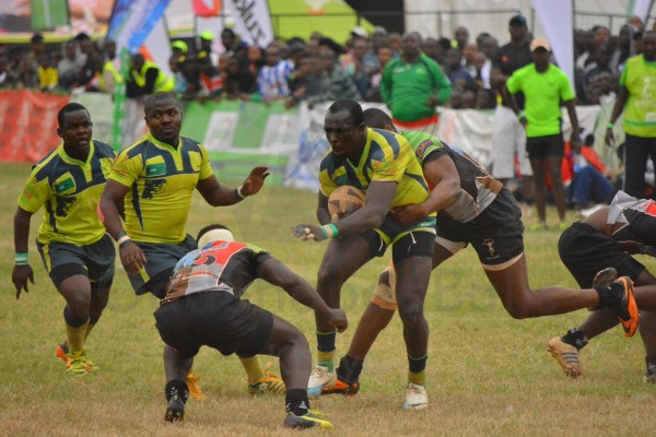 Ian Indimuli of KCB in past action against Quins (Photo : James Wahome)