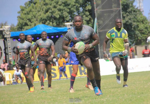 Louis Kisia in action against KCB