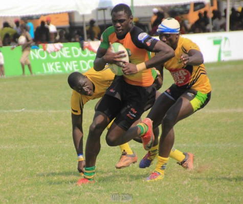Godfrey Mbeya in action against Homeboyz