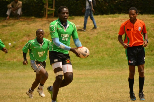 Thika RFC in past action (Photo : James Wahome)