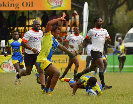 Max Kang'eri of Homeboyz about to cover a ruck against Impala