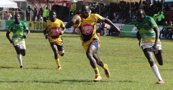 Bush Mwale of Homeboyz in full flight against Kabras (Photo - Skarra)