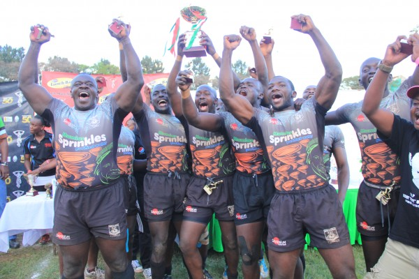 Mwamba celebrating their Christie title (Photo - Skarra)