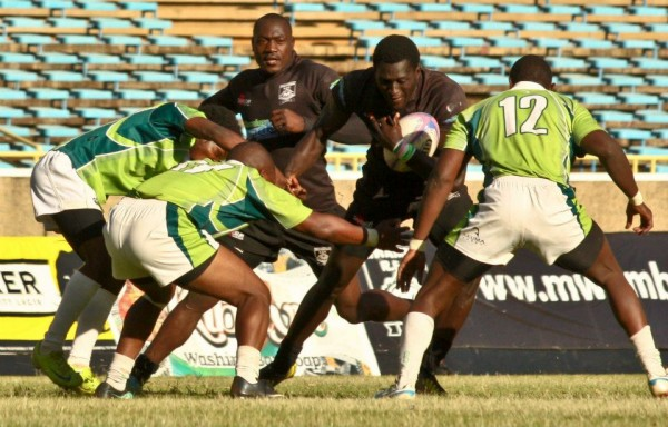 Mike Agevi in past action against KCB (Photo : Mwamba RFC)