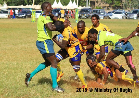 Alvin Otieno vs Andrew Amonde in a past encounter (Photo: Ministry of rugby)