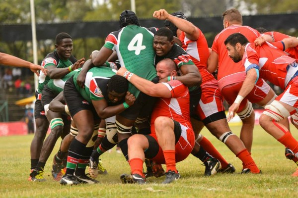 Simbas in action against Tunisia