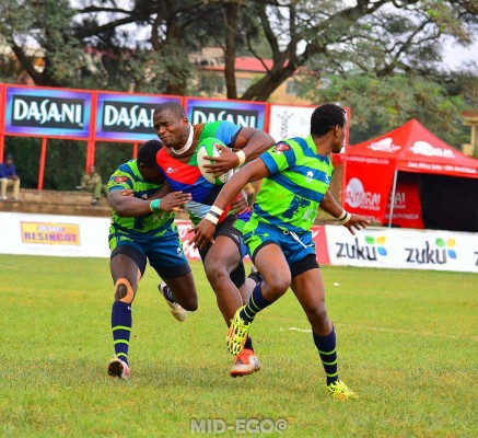 Willy Ambaka breaks the KCB defence during the Christie final