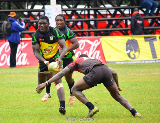 Martin Owila in action during the Christie 7s