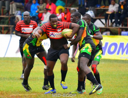 Davis Makori of Impala in action against Nakuru