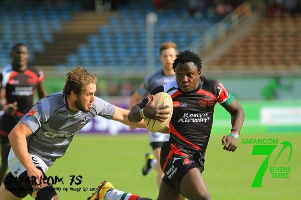 Augustine Lughonzo in full flight for the Shujaa last year