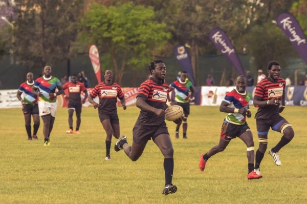 Nato Simiyu on his way to the line against Quins.