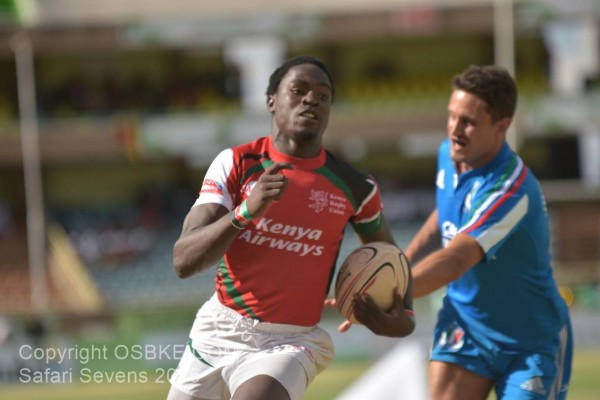 Nelson Oyoo in action during the Safari 7s