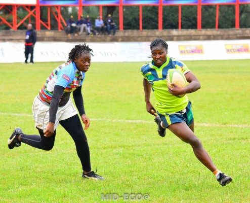 Past action between KCB and Quins (Photo : Mid-ego Fotography)