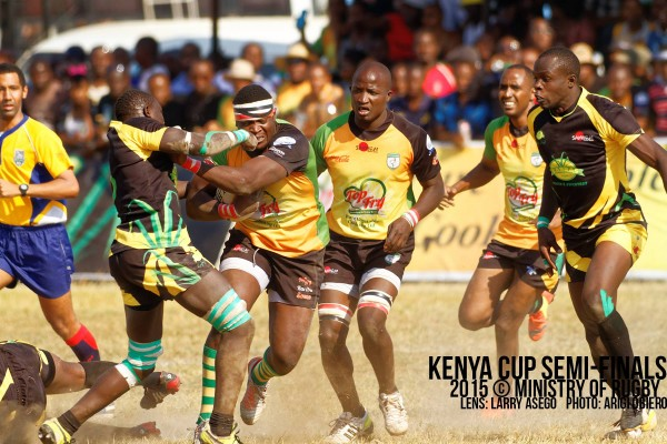 Mike Okombe in action against Kabras (Photo : MoR)