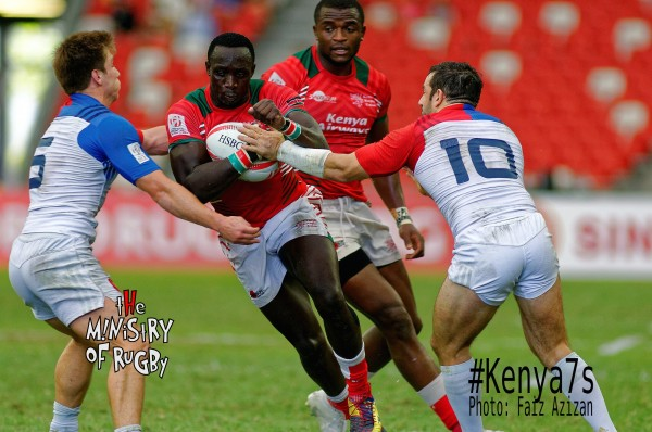Oscar Ayodi in action on Day 1. (Photo - Ministry of Rugby)